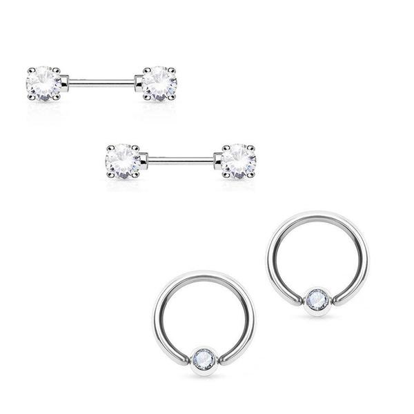 Steel, nipplepiercing, Body Jewelry, nipplejewelry