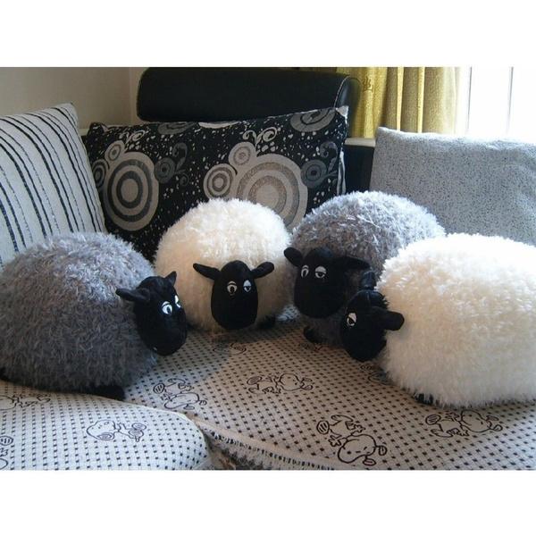Sheep, Gray, Toy, softplushtoy