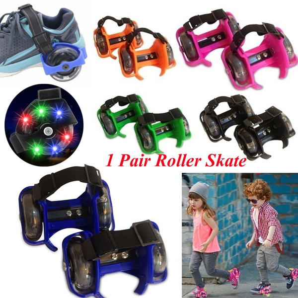 1 Pair Adjustable 2 Wheel Skating Shoes