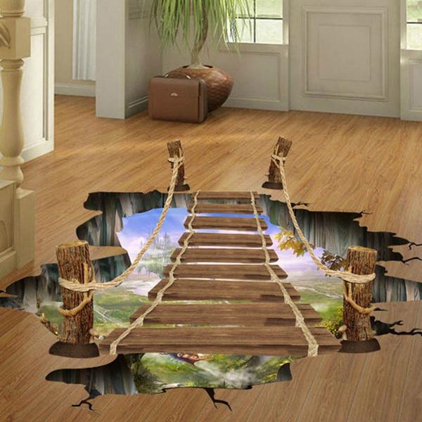 bridge, Decor, art, floor