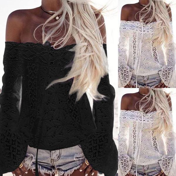 blouse, off shoulder top, womenblousetop, Lace