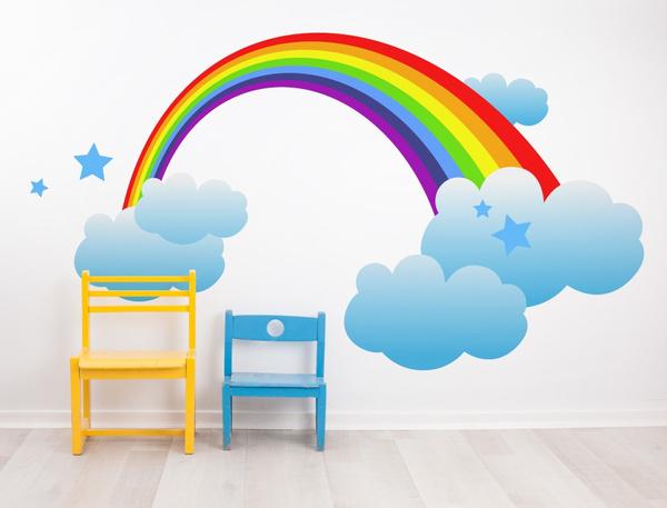 Stickers, kinderzimmer, ballon, spielecke