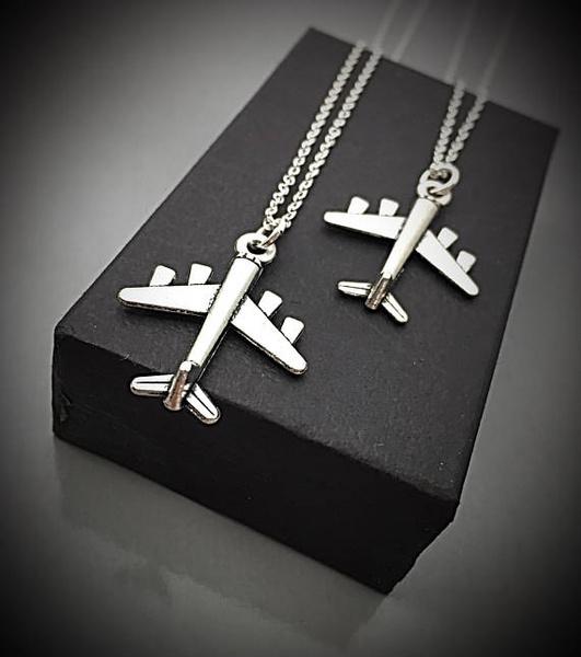 Jewelry, initial, Custom, plane