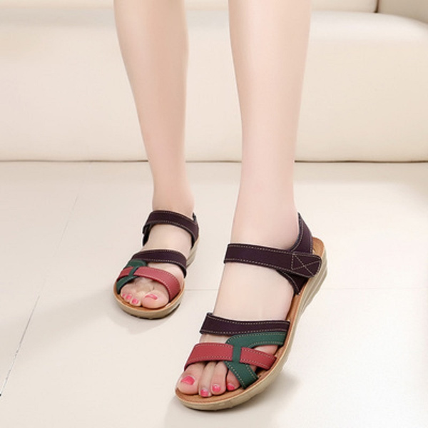 Summer, Sandals, leather, Comfortable