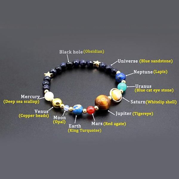 white stone beaded bracelet Moon bracelet