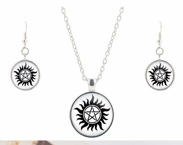 supernaturalsamdeanwinchesterseal, Jewelry, Gifts, Glass