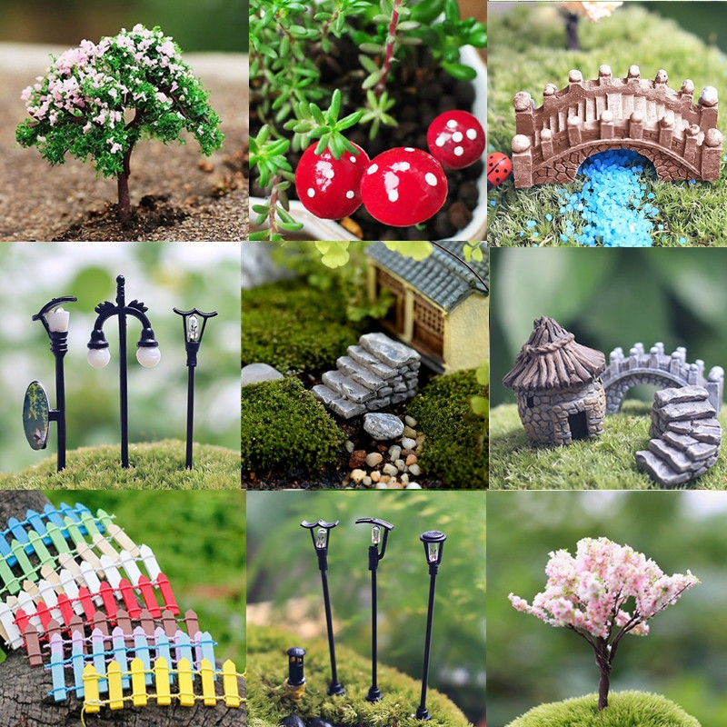 Miniature Fairy Garden Dollhouse Ornament Decor Pot DIY Craft Accessories Decor