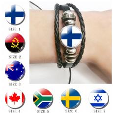 black bracelet, Canada, flagbracelet, Jewelry