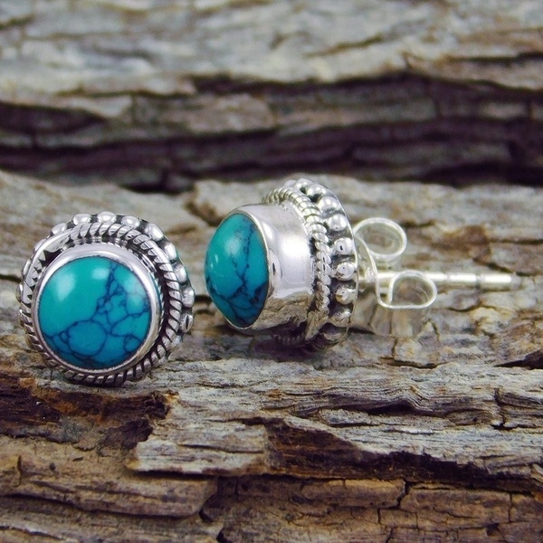 Sterling, Turquoise, Jewelry, Earing