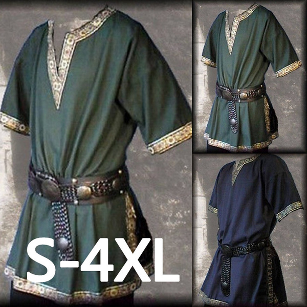 Plus Size, Cotton Shirt, Medieval, Sleeve