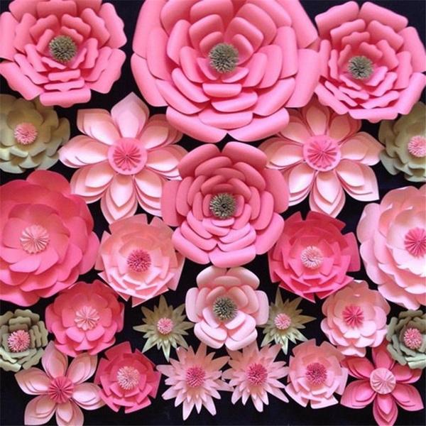 party, Decor, Flowers, paperroseflower