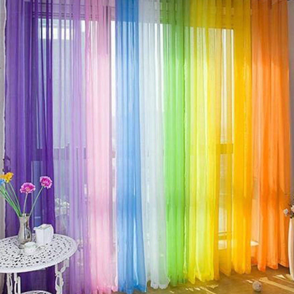 tulle, tullevoilecurtain, Colorful, roomcurtain