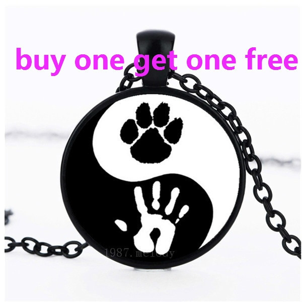 pawprint, Chain Necklace, yinyangnecklace, Necklace
