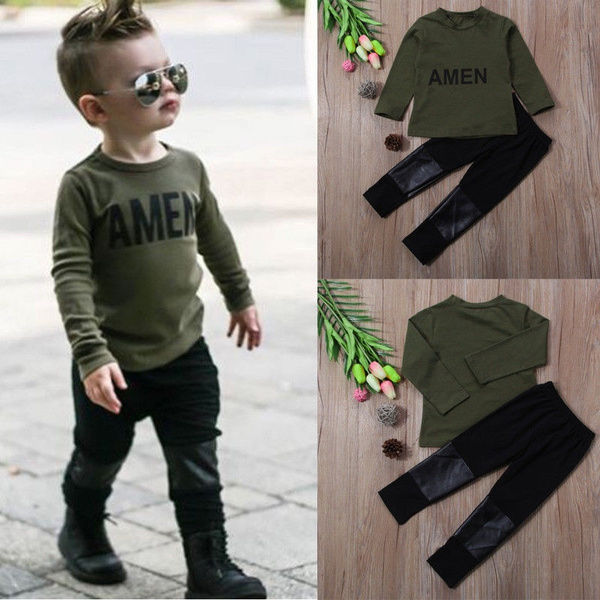 fashionboysclothesset, Army, Toddler, babyboyclothesset