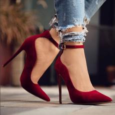 ladiespump, Sandals, anklestrapheel, Womens Shoes