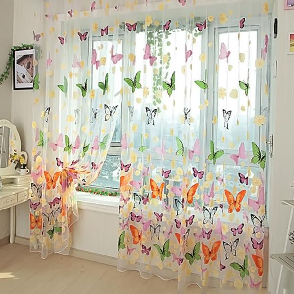 butterfly, Sheer, Door, room