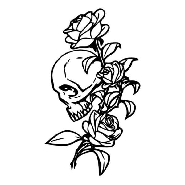 Car Sticker, graffitidoodle, skull, doodlesticker