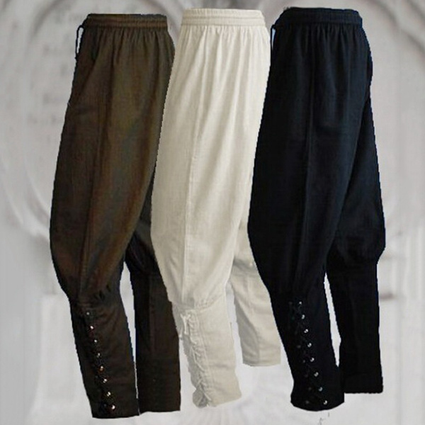 Men/'s Medieval Loose Stage Costume Pants Retro style Performance Trousers 12