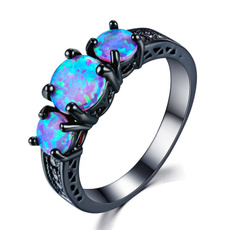 fireopalring, Blues, blackgoldfilledring, Fashion