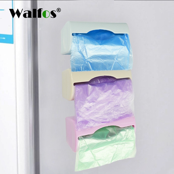 Zero waste plastic bag holder and dispenser