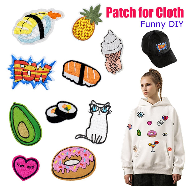 Clothing & Accessories, Hoodies, Funny, embroideryapplique