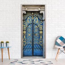 Blues, Door, Home Decor, doorsticker