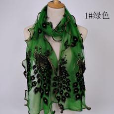 peacock, Fashion, Winter, chiffon