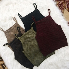 knit crop top, 女性, 時尚, crop top