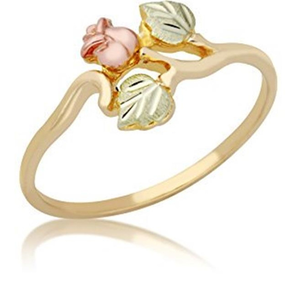 leaves, Jewelry, gold, Rose