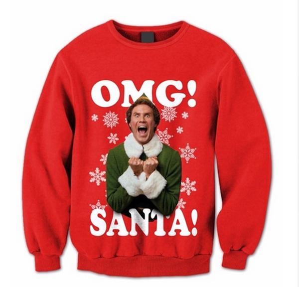 Sweaters, Fashion, Christmas, Print