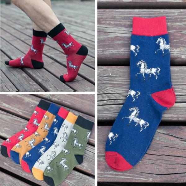 cartoonsock, horse, Cotton Socks, mens socks
