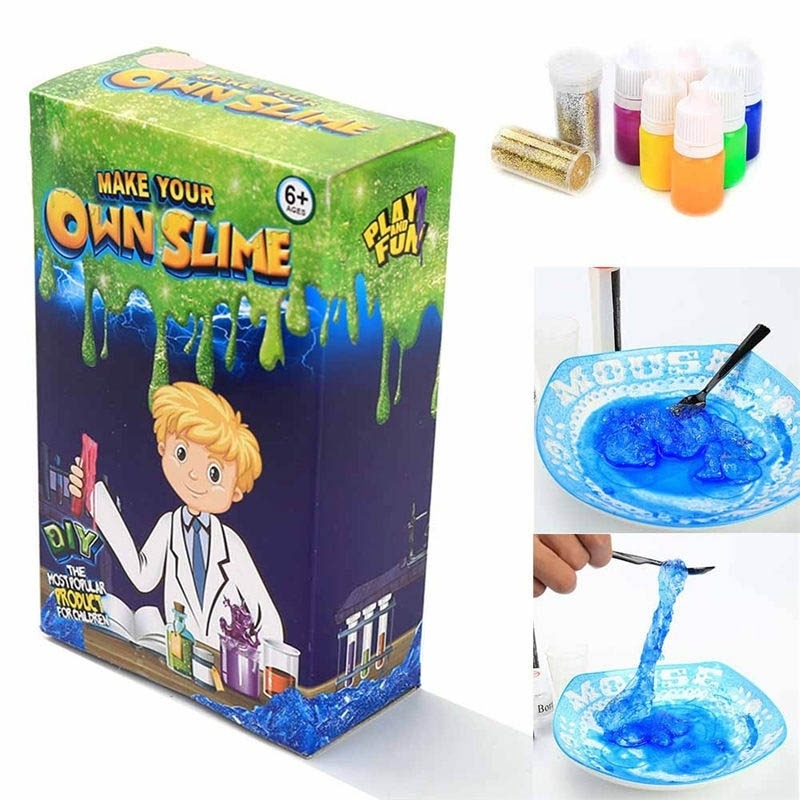 DIY Make Your Own Creative Slime Putty Kids Toy Christmas Gift Play Lab Kit h46