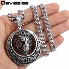 mensstainlesssteelnecklace, Steel, Head, mensnecklacechain