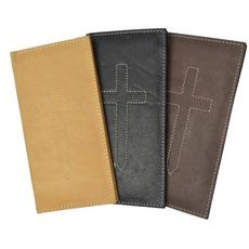 bifold, Wallet, checkbookcover, leather