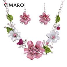 NECKLACE AND EARRING SET, earringsset, Fashion, flowerjewelry