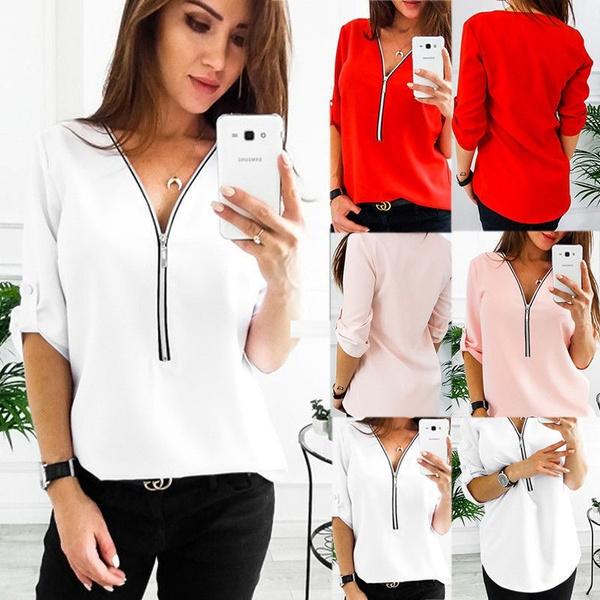shirtsforwomen, Plus Size, Shirt, Loose