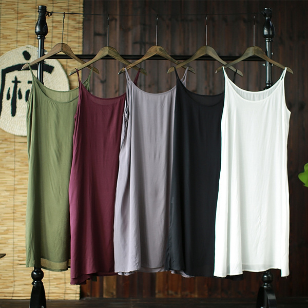 strappydre, underdre, looseunderskirt, Cotton