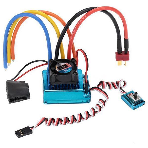 120A Sensored Brushless Speed Controller Esc Für Rc 1//8 1//10 1//12 Auto Cl Q5L4