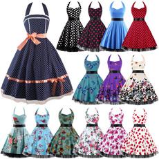 Swing dress, halter dress, sexy dresses, Halter