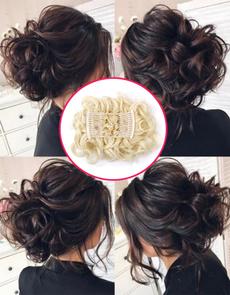wig, Shorts, clip in hair extensions, bunhairclip