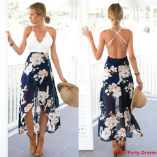 Fashion, Lace, Deep V-neck Dress, Dress