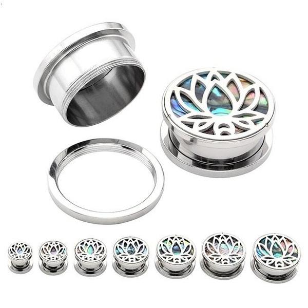Steel, Flowers, Jewelry, Stud Earring