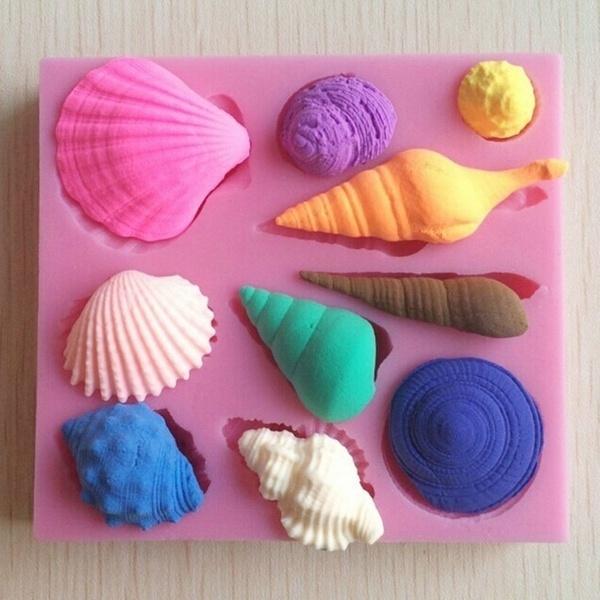 Silicone, seashell, cake mold, Chocolate