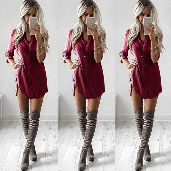 women sexy dress, blouse, Fashion, chiffon