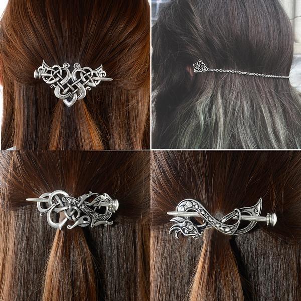celtichairpin, celticknot, Jewelry, vikinghairpin