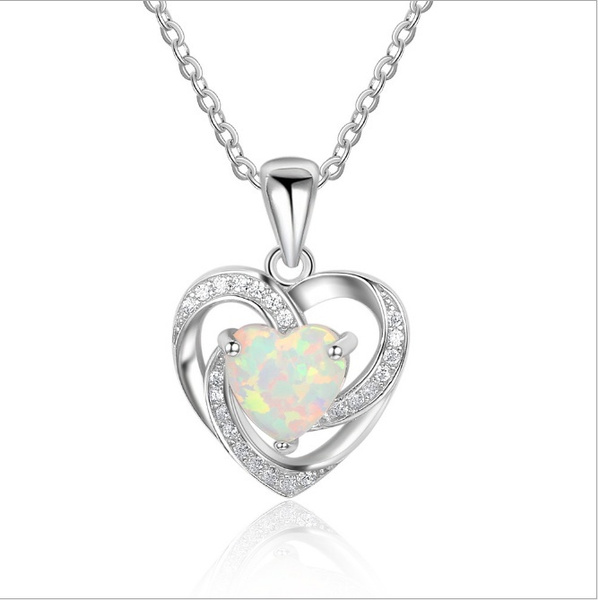 925 sterling silver necklace, Sterling, DIAMOND, Heart