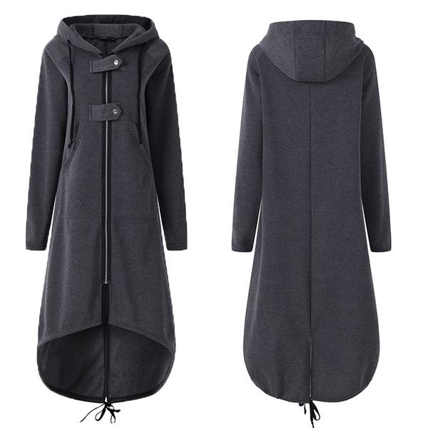 hooded, diphem, Sleeve, Long Coat