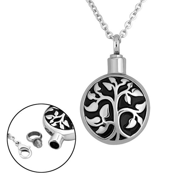 ashurnpendant, Steel, petashesjewelry, treeoflifependant