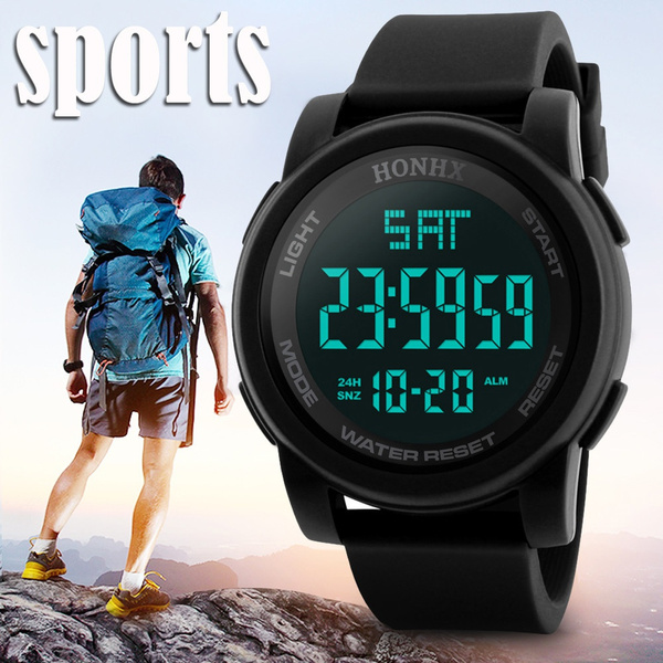 LED Watch, quartz, led, Sports & Outdoors