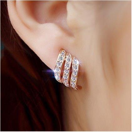 gold, Stud Earring, rose gold earrings, Rose